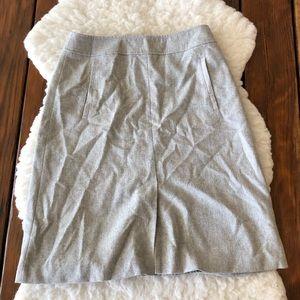 Banana Republic Grey Wool Blend A-Line Skirt o7